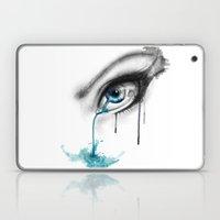 Blue tear river. Laptop & iPad Skin