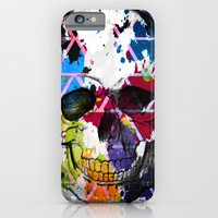 iPhone & iPod Case featuring Abstract Skull by D77 The DigArtisT