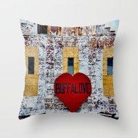 Buffalove Color Throw Pillow
