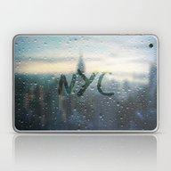 Rainy Day In NYC Laptop & iPad Skin