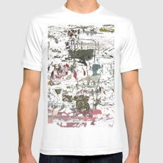 take a breath [ABSTRACT]  Mens Fitted Tee SMALL White