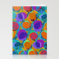 Multi Circles and Dashes Stationery Cards