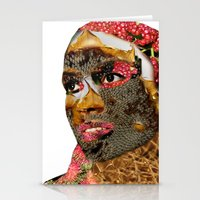 the enthusiasm of the colors Stationery Cards