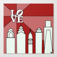 LOVEred Canvas Print