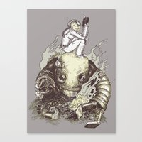 Harder They Fall Canvas Print