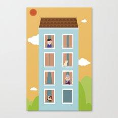 Sweet Urban Building Canvas Print