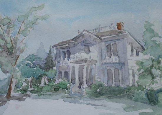 Rengstorff House - watercolor Art Print