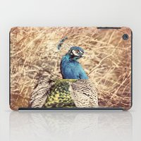 Peacock photography blue green brown photography branches immortality royalty iPad Case