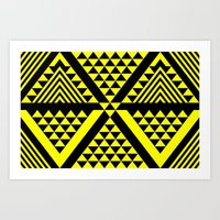 Black & Yellow Art Print