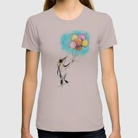 Let There Be Flight Womens Fitted Tee Cinder SMALL