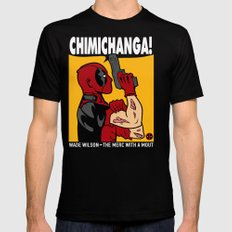 Chimichanga SMALL Black Mens Fitted Tee