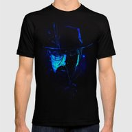 Mr. White (Crystal Blue) Mens Fitted Tee Black SMALL