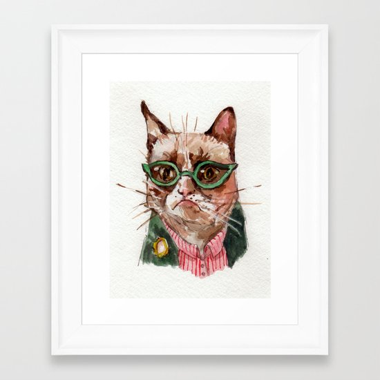 grumpy Framed Art Print