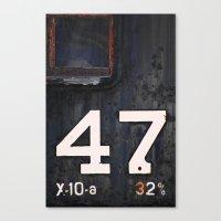 47 Red Window Canvas Print