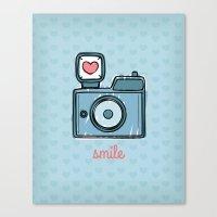 Blue Smile Canvas Print