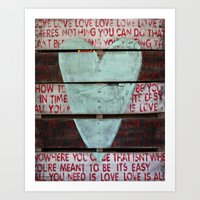 Beatles All You Need Is … Art Print