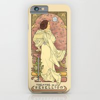 french iPhone & iPod Cases featuring La Dauphine Aux Alderaan by Karen Hallion Illustrations