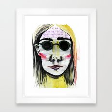 Head Shot #4 Framed Art Print