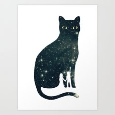 4 Moons Art Print
