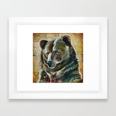 bear face Framed Art Print