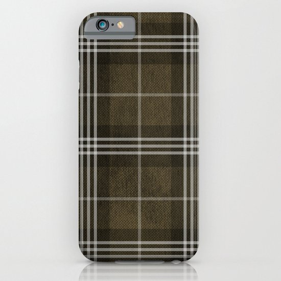 Grungy Brown Plaid iPhone & iPod Case