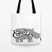 Ampersand Hippo Tote Bag