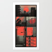 Red - collection Art Print