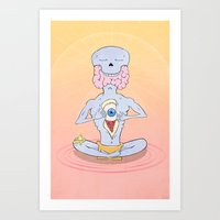 Grey Matter Leak Art Print