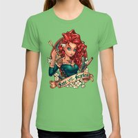 Fate Loves The Fearless Womens Fitted Tee Grass SMALL