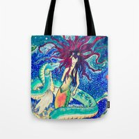 The Mermaid And Her Drag… Tote Bag