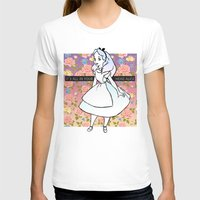 it's all in your head alice Womens Fitted Tee White SMALL