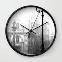 Florence in the Spring Rain Wall Clock
