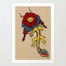 Dragon Flowers Art Print