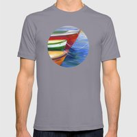 Gone Fishin' Mens Fitted Tee Slate SMALL