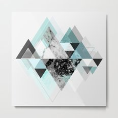Graphic 110 (Turquoise Version) Metal Print