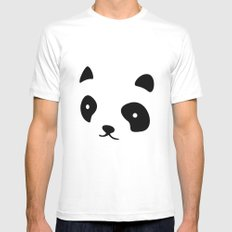 Minimalistic Panda face White Mens Fitted Tee SMALL