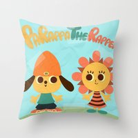 Parappa & Sunny Throw Pillow