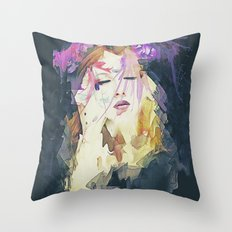 Path - Abstract Portrait Throw Pillow