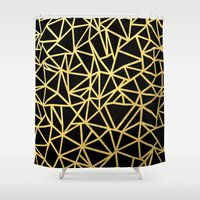 Abstract Outline Thick G… Shower Curtain