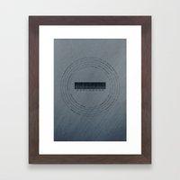 MOON Explorers  - MINIMALIST POSTER Framed Art Print