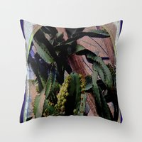 Twisted  Cactus Throw Pillow