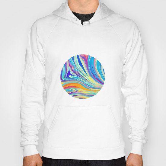 rainbow swirl Hoody
