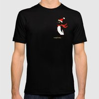 Holiday Penguin Mens Fitted Tee Black SMALL