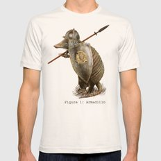 Armadillo (option) Mens Fitted Tee Natural SMALL