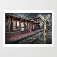 Old Train Station With C… Art Print