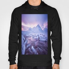 Freezing Mountain Lake Landscape Hoody