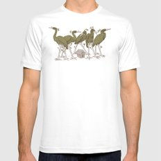 Bird Forest SMALL White Mens Fitted Tee