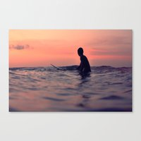 Surfing Cocoa Beach FL Canvas Print