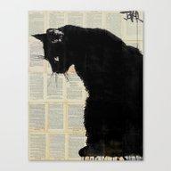 CAT BLACK Canvas Print