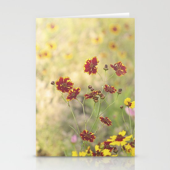 Coreopsis Flower Meadow Stationery Card